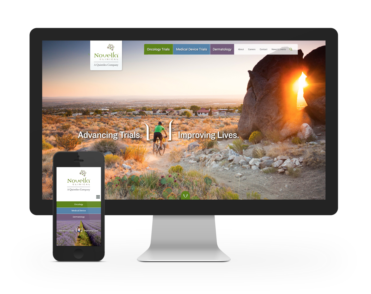 Novella Clinical, website home page